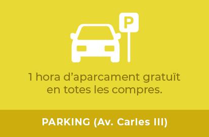 1 Hora de aparcament gratuït