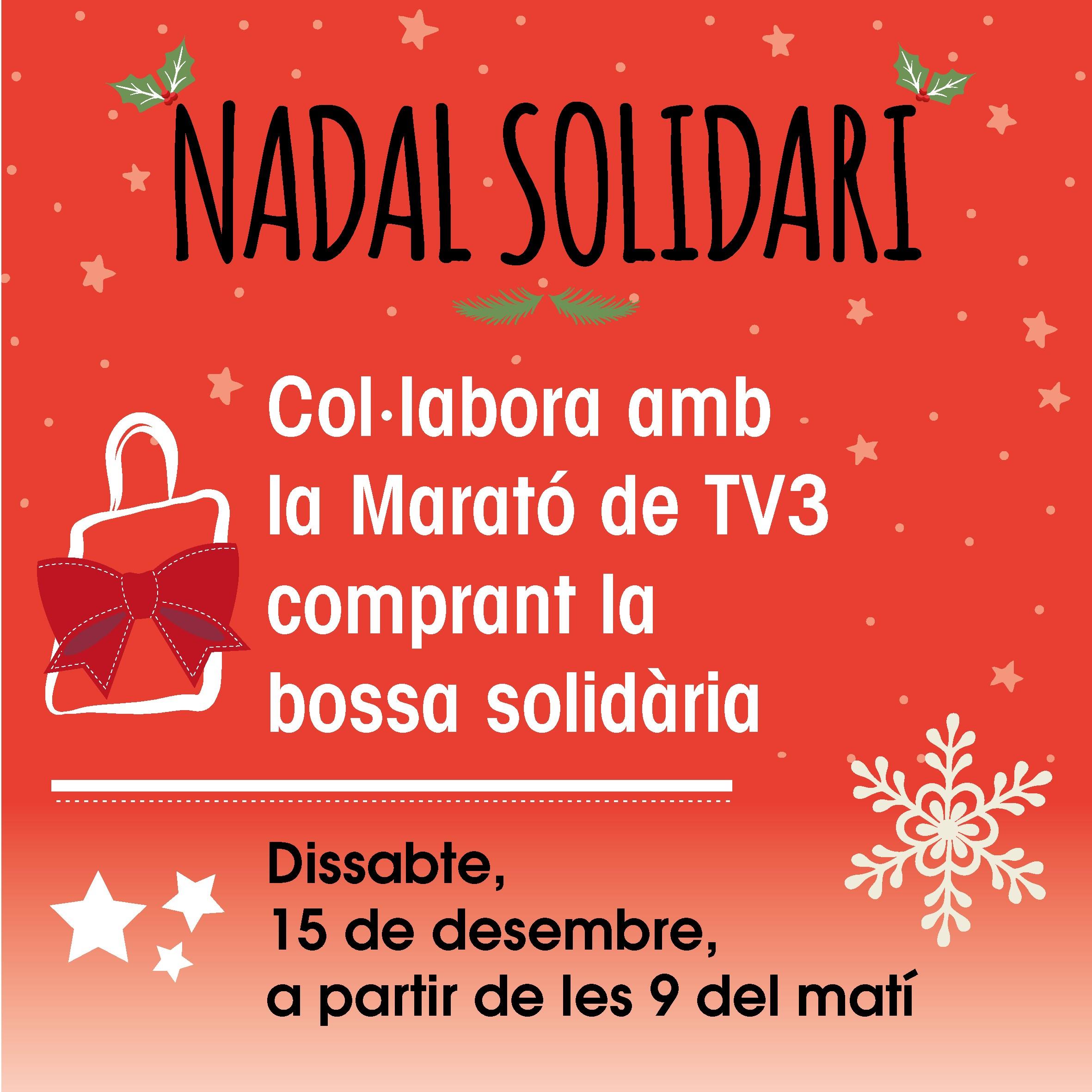 Bolsa solidaria a favor de la Marató de TV3